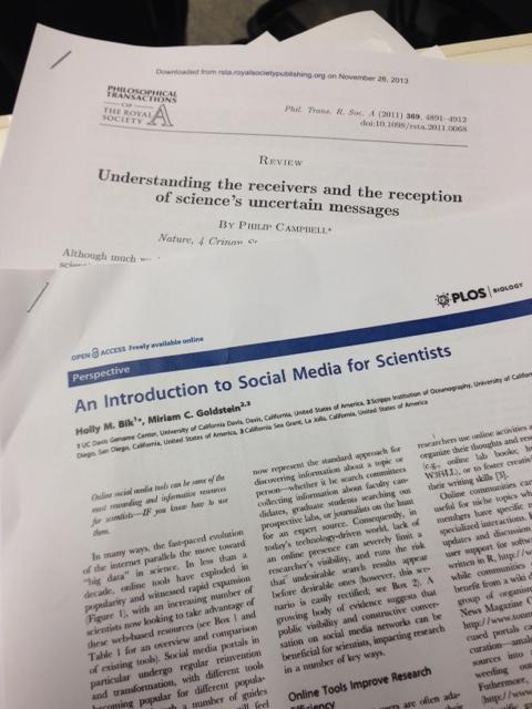 Scientists + Social Media = True
