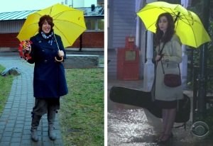 I am, obviously, a music person, and I own a yellow umbrella - just like the eponymous Mother from How I Met Your Mother! But I play tambourine, not bass guitar!