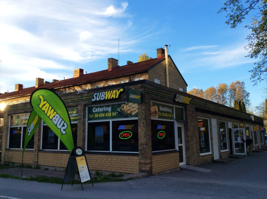 Subway from outside. Inside only sandwiches.
