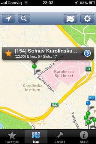 Stockholm City Bikes iOS app