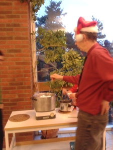 Peter is making home-made glögg