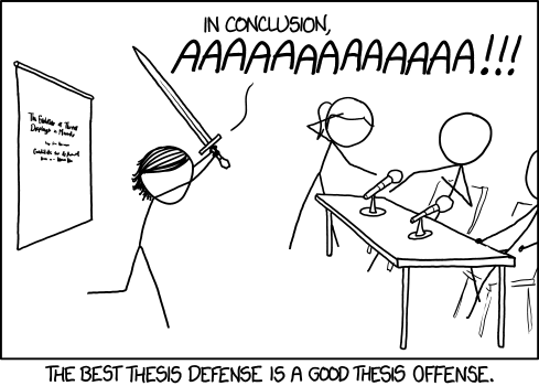 Dissertation defense experience